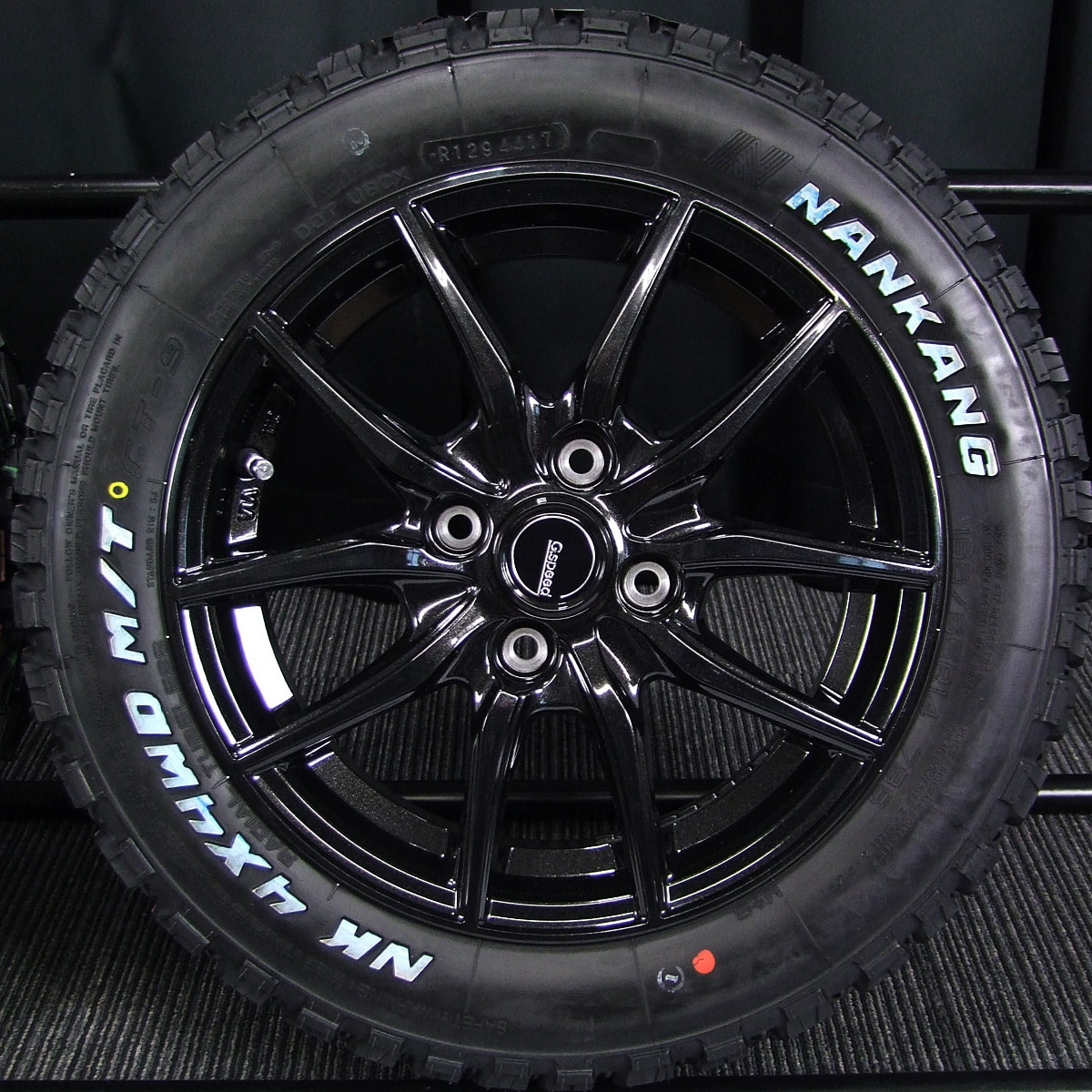 HOT STUFF G.speed G-02 ブラックメタリック NANKANG FT-9 M/T 165/65R14 4本SET