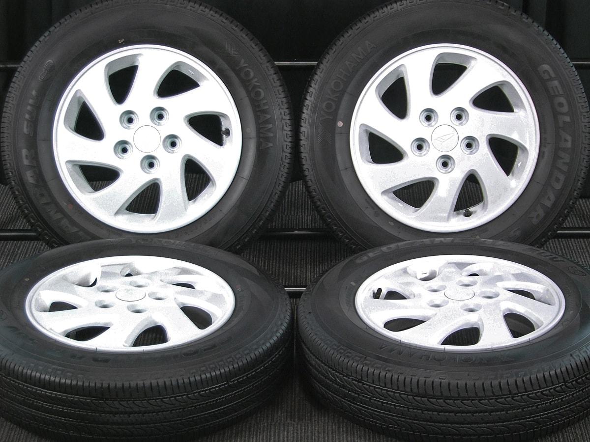 DAIHATSU テリオスキッド 純正 ホワイト YOKOHAMA GEOLANDAR SUV 175/80R15 4本SET