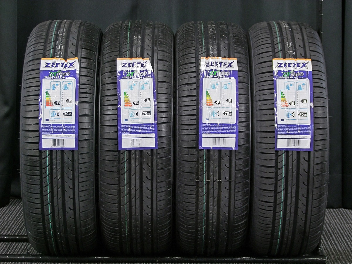 WORK GOOCARS クロム ZEETEX ZT1000 165/55R15 4本SET