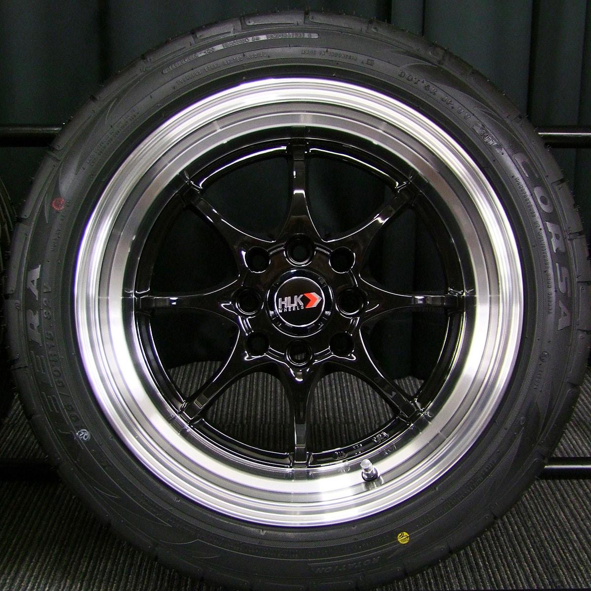 HLK G08 ブラック ATR SPORT CORSA VEERA 195/50R15 4本SET