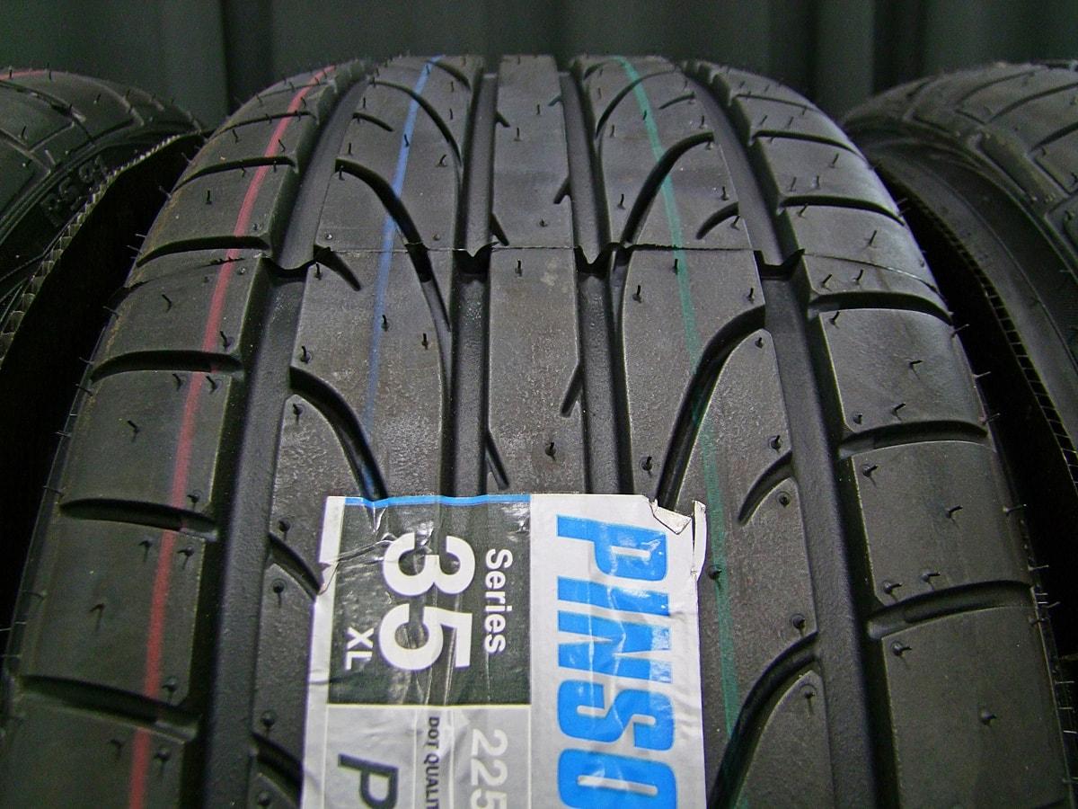 DCENTI RSW20 マットブラック PINSO PS91 225/35ZR19 4本SET