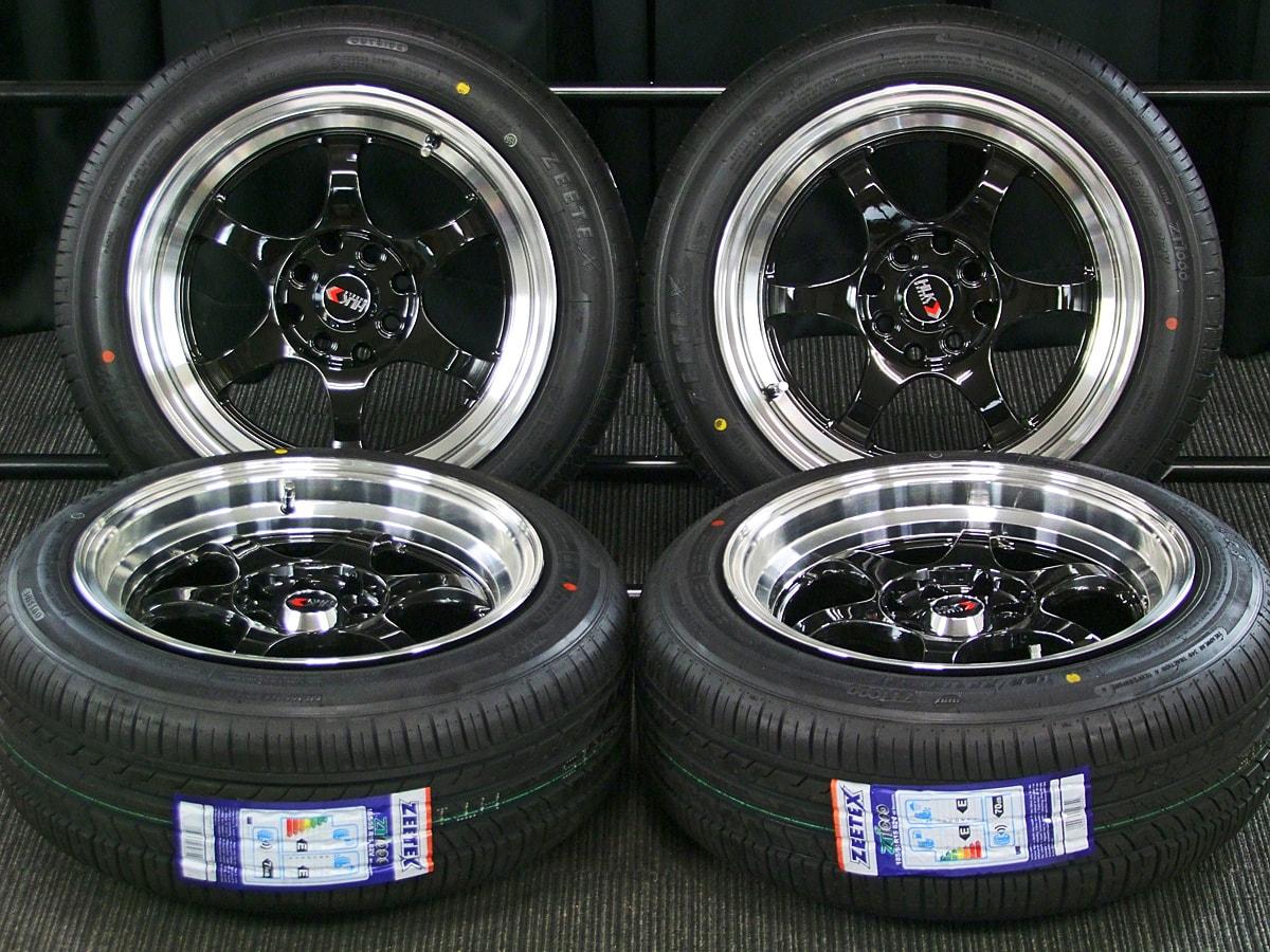 HLK G06 ブラック ZEETEX ZT1000 185/55R15 4本SET