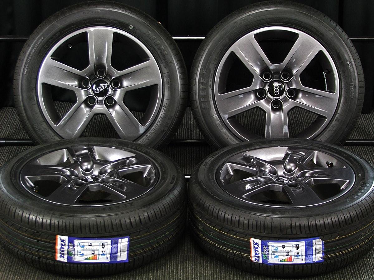AUDI A4 純正 ガンメタ ZEETEX ZT1000 205/55R16 4本SET