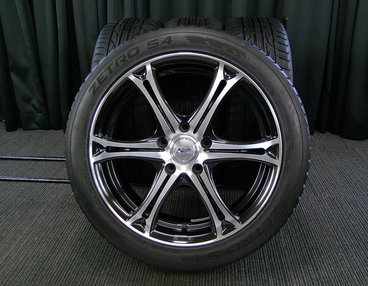 KOSEI CONCEPTO β ブラック&ポリッシュ ZETRO S4 205/50ZR17 4本SET