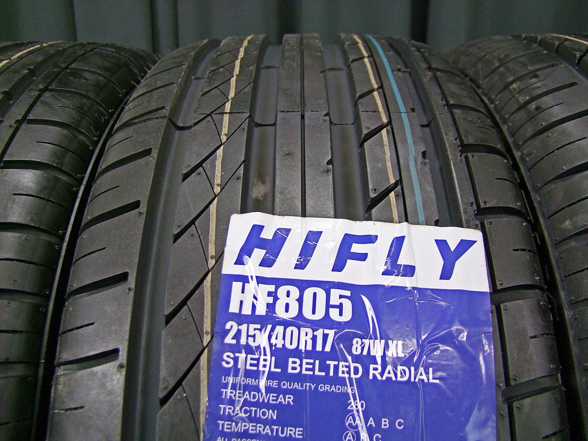 AEZ FIVE シルバー HIFLY HF805 215/40R17 4本SET