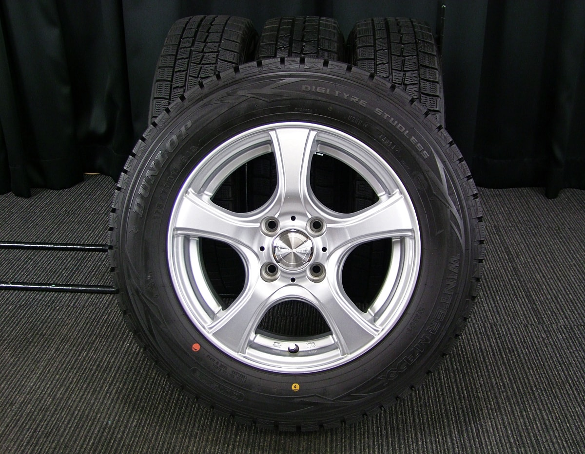 DUNLOP VIOLENTO IS シルバー DUNLOP WINTER MAXX WM01 175/70R14 4本SET