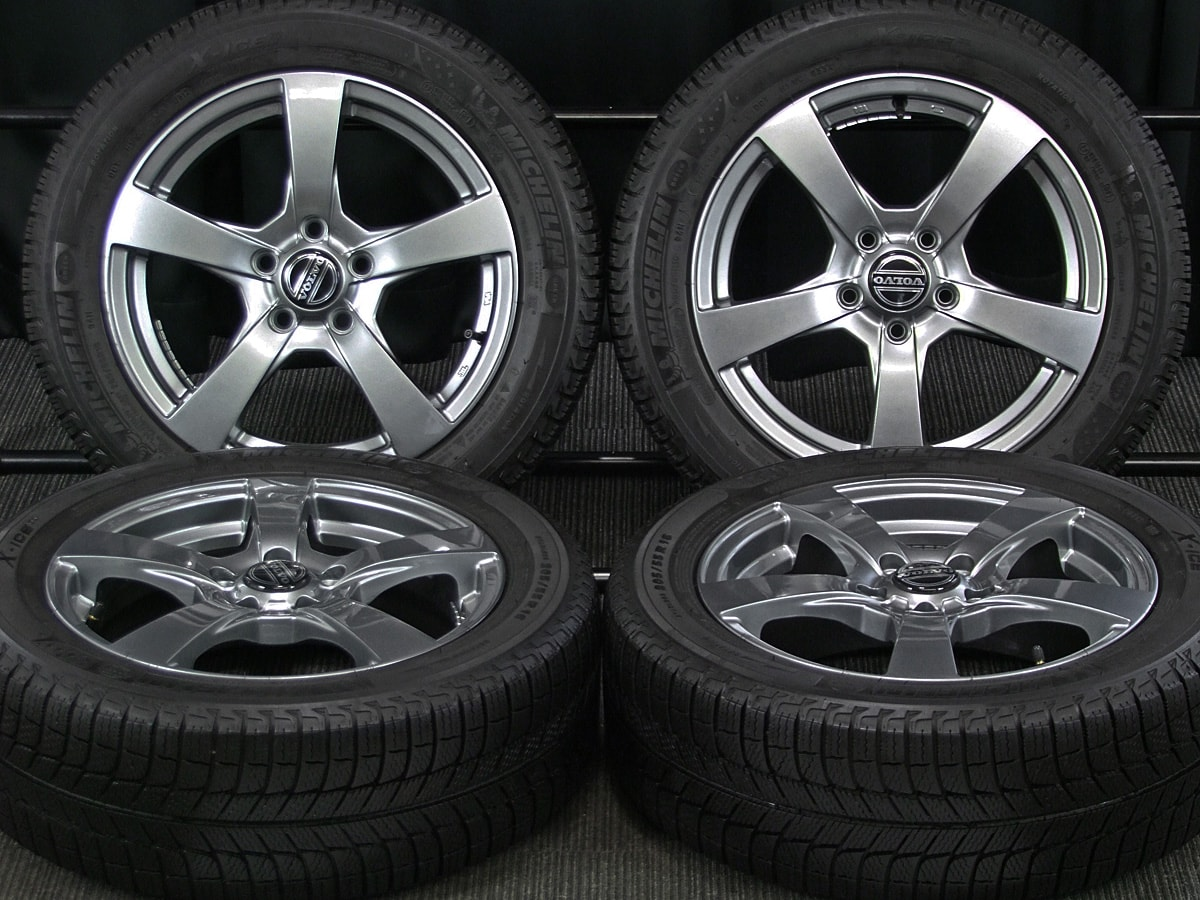 EURODESIGN V5 type ダークシルバー MICHELIN X-ICE XI3 205/55R16 4本SET