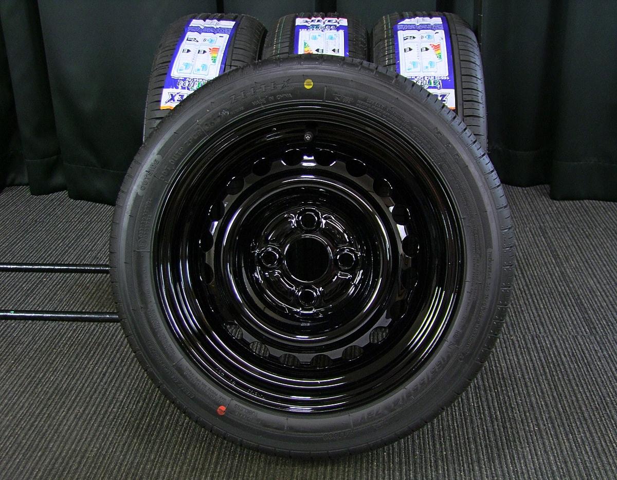 HONDA 純正 ブラックスチール ZEETEX ZT1000 165/55R14 4本SET