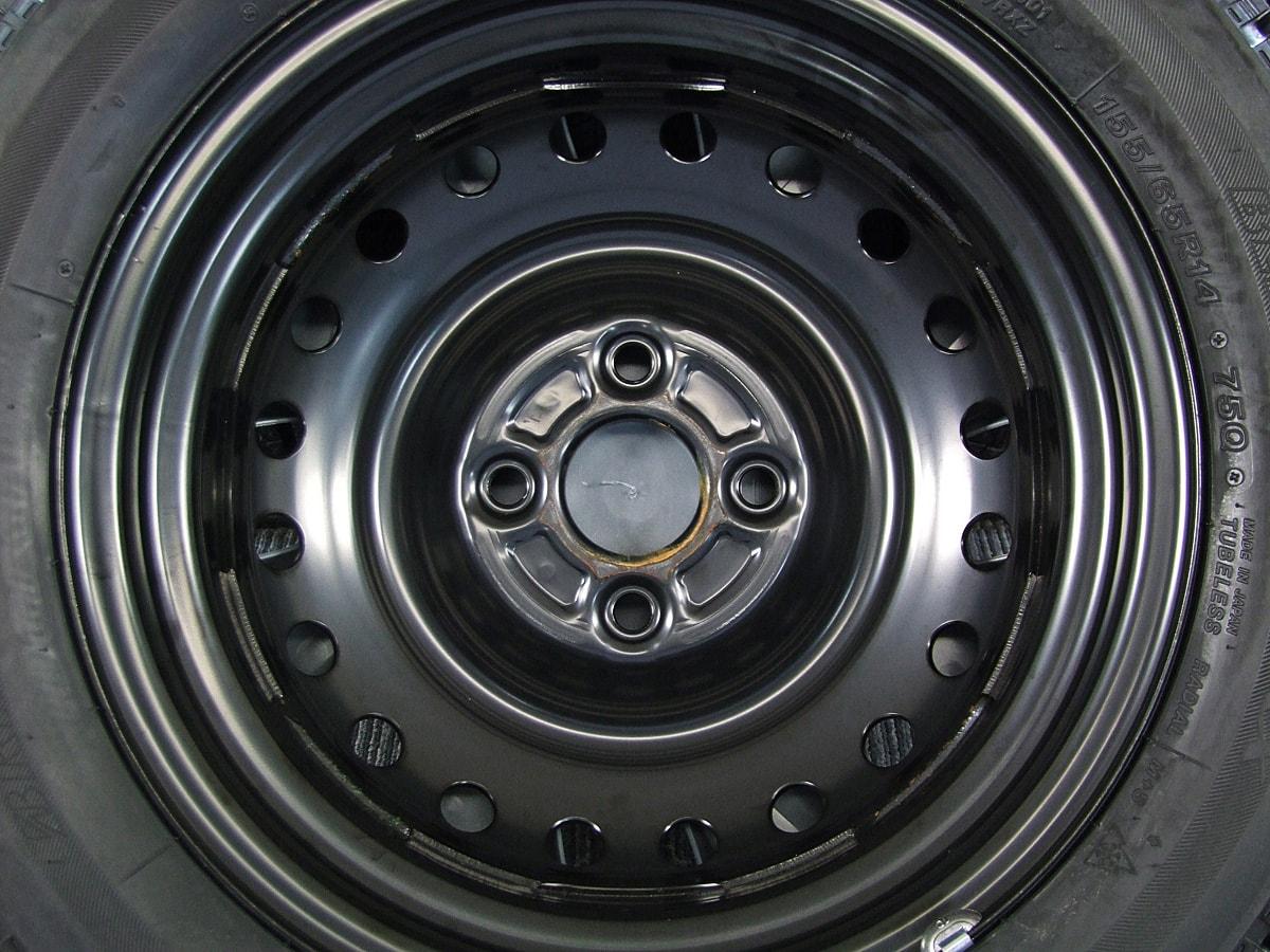 DAIHATSU タント 純正 ブラックスチール BRIDGESTONE BLIZZAK VRX 155/65R14 4本SET