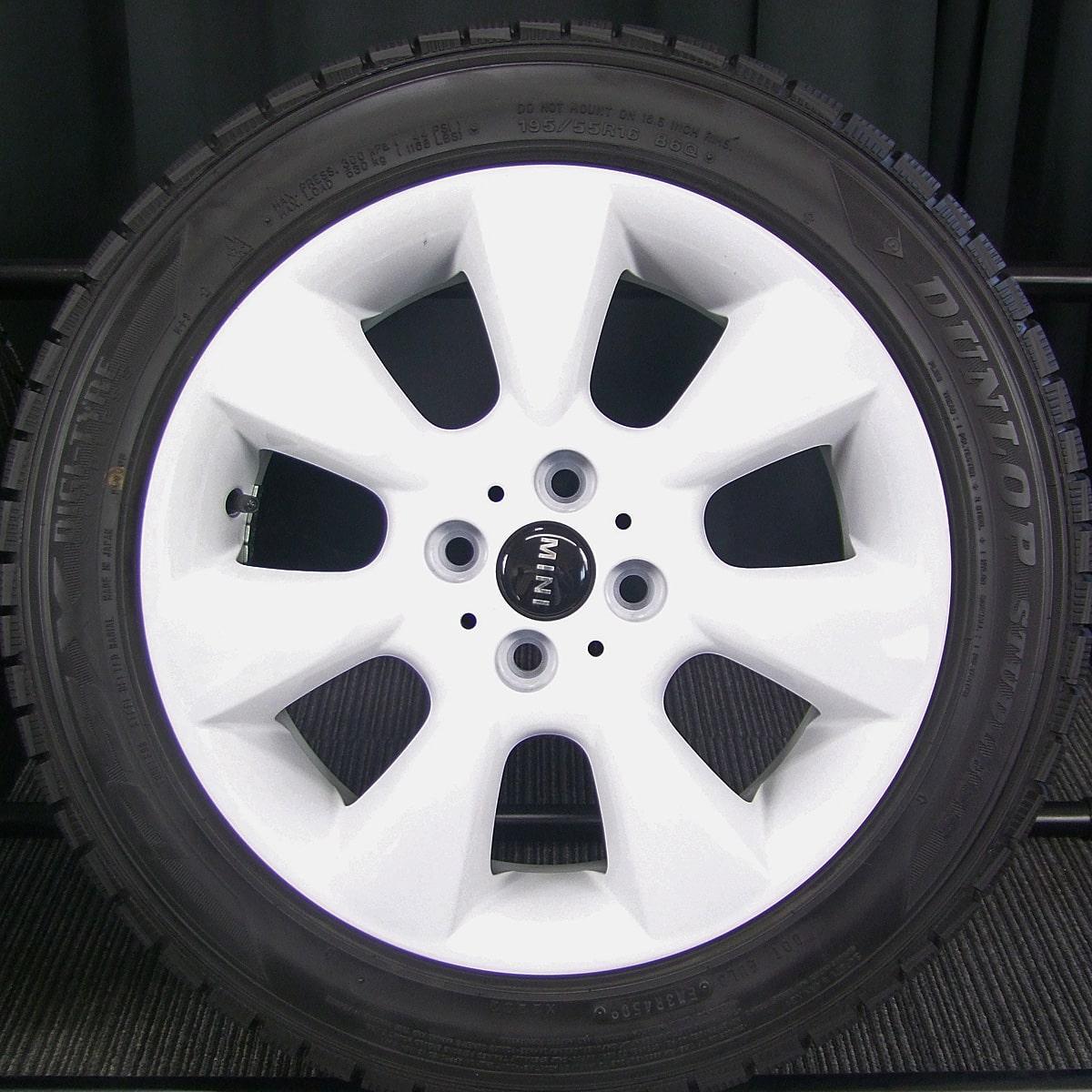 BMW MINI 純正 ホワイト DUNLOP DSX 195/55R16 4本SET