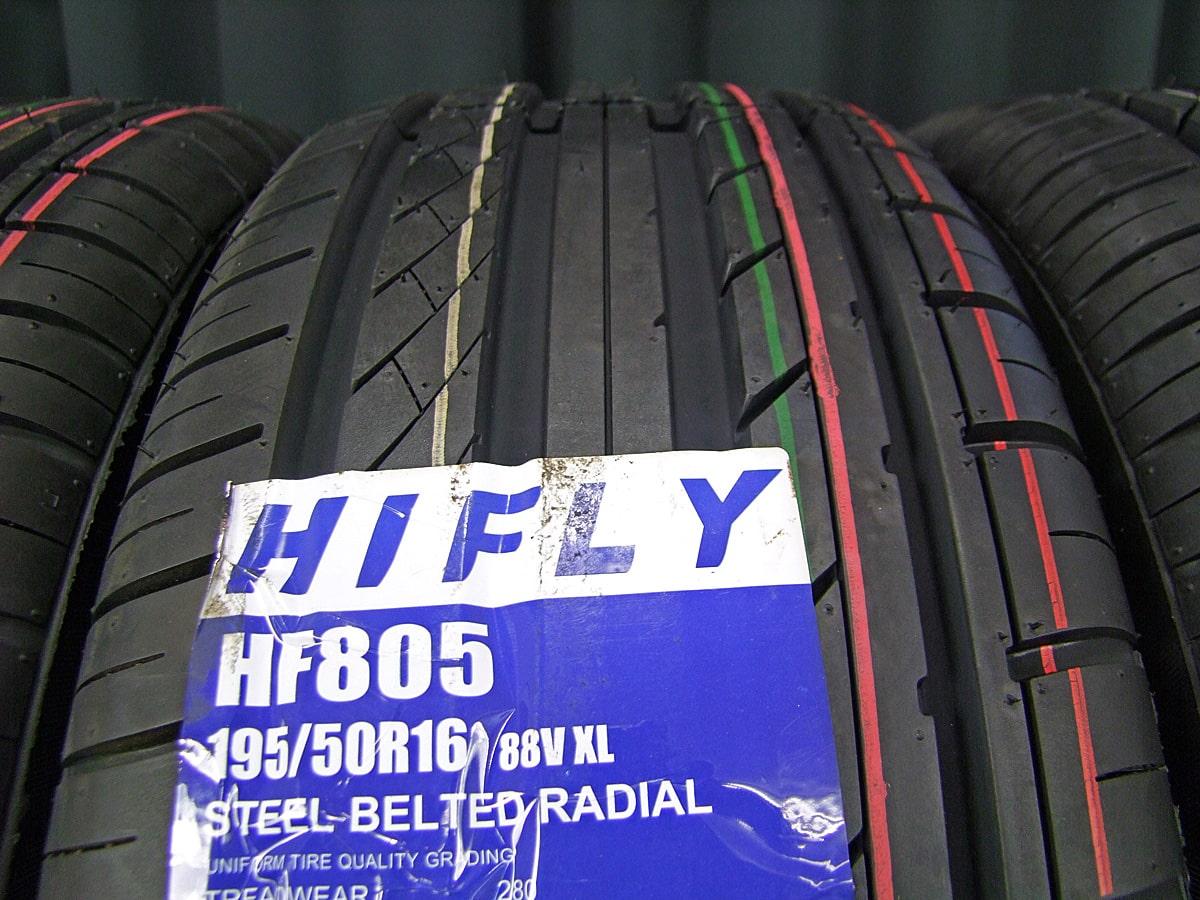 BIGWAY LEYSEEN SP-M ブラックメタリック HIFLY HF805 195/50R16 4本SET