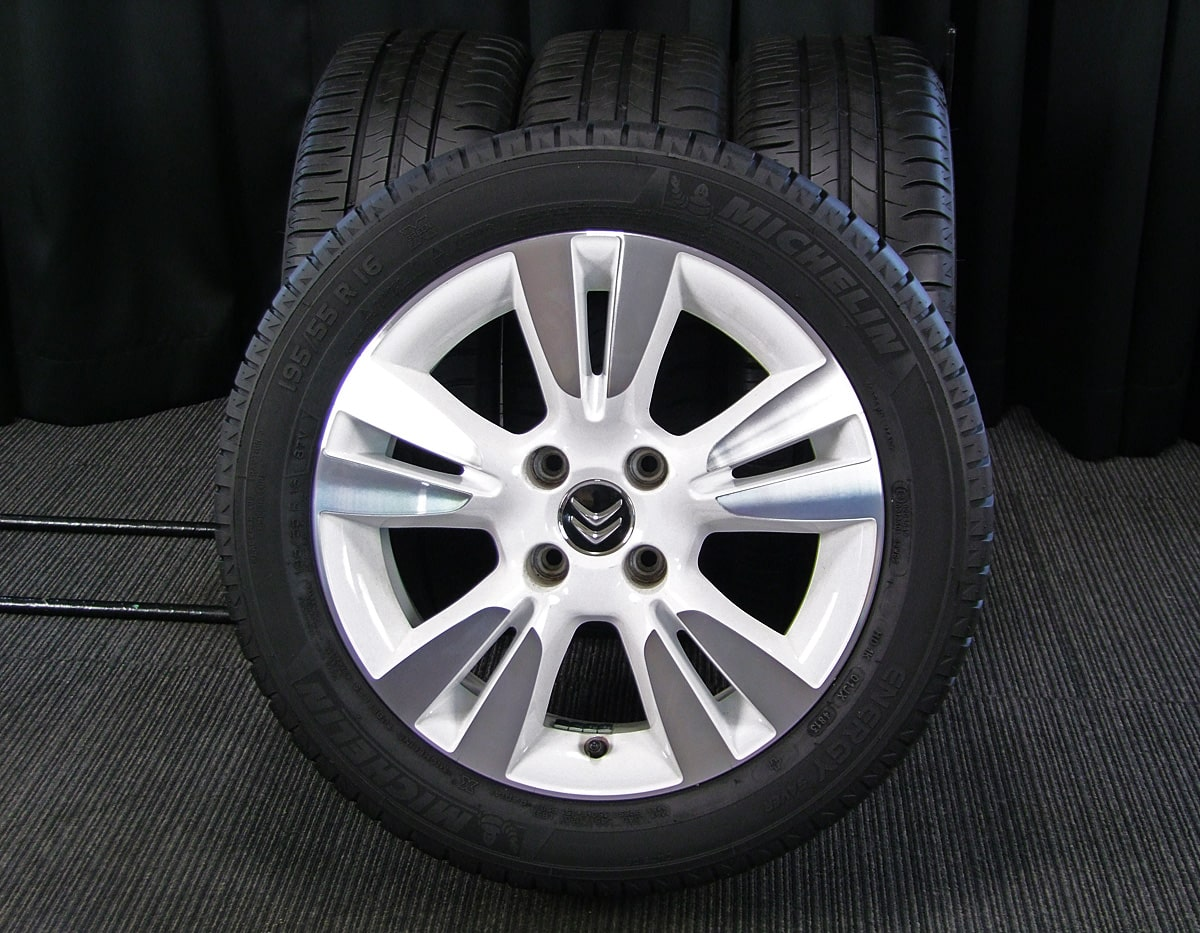 CITROEN DS3 純正 ホワイト&ポリッシュ MICHELIN ENERGY SAVER 195/55R16 4本SET