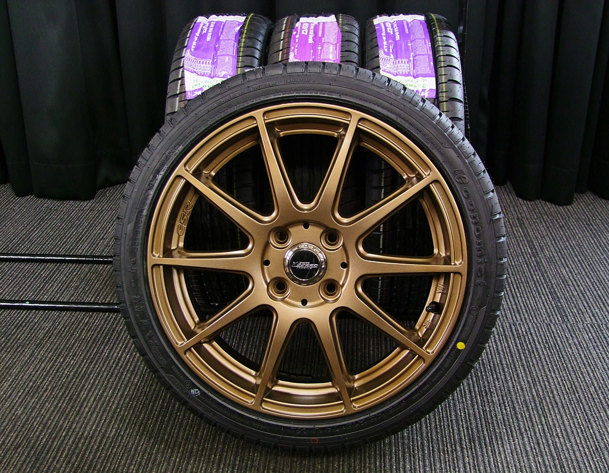 HOT STUFF CROSS SPEED PREMIUM-R マットブロンズ ATR SPORT Economist ATR-K 165/45R16 4本SET