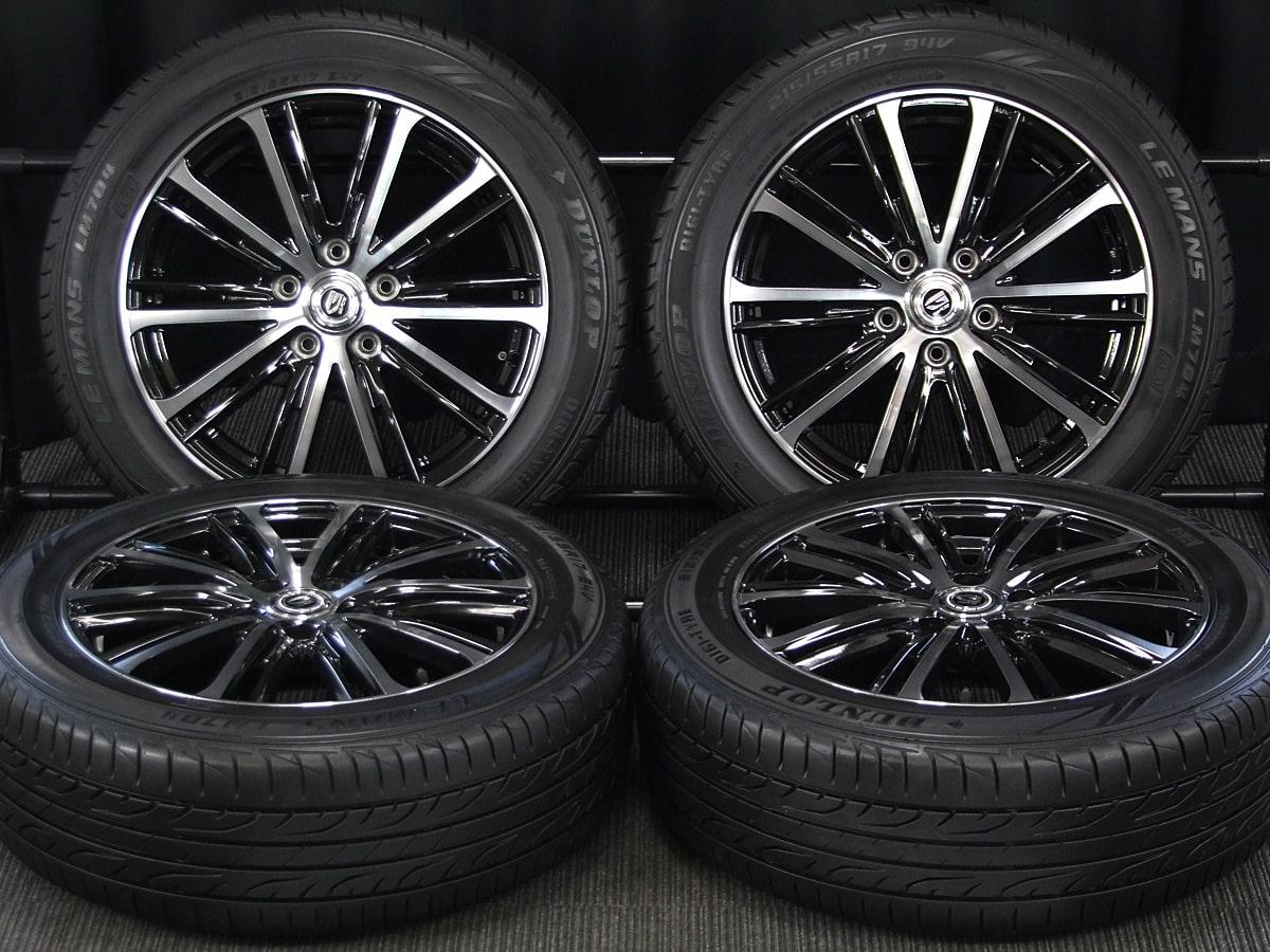 WEDS GYLE VT5 ブラック&ポリッシュ DUNLOP LE MANS LM704 215/55R17 4本SET