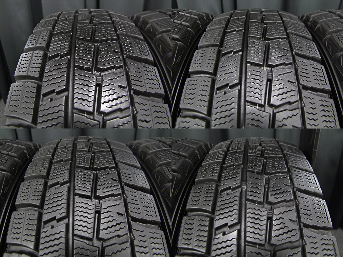 DUNLOP ROZEST STYLISH MODE W7 マットブラック DUNLOP WINTER MAXX WM01 165/70R14 4本SET
