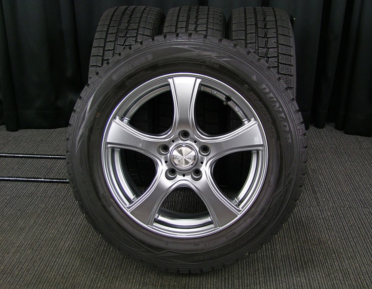 DUNLOP VIOLENTO IS ダークシルバー DUNLOP WINTER MAXX WM01 215/60R16 4本SET