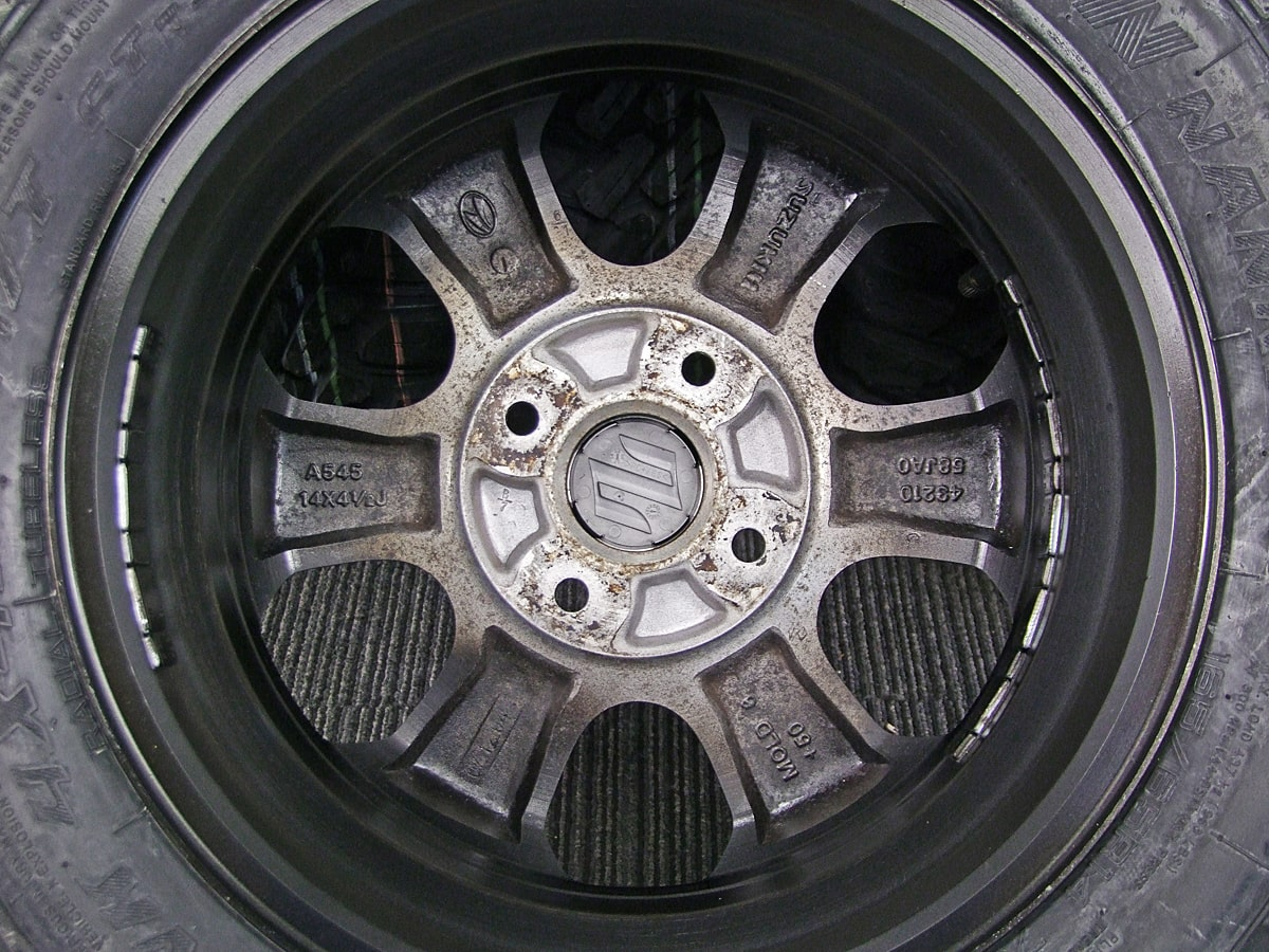 SUZUKI ワゴンR 純正 マットブラック NANKANG FT-9 M/T 165/65R14 4本SET