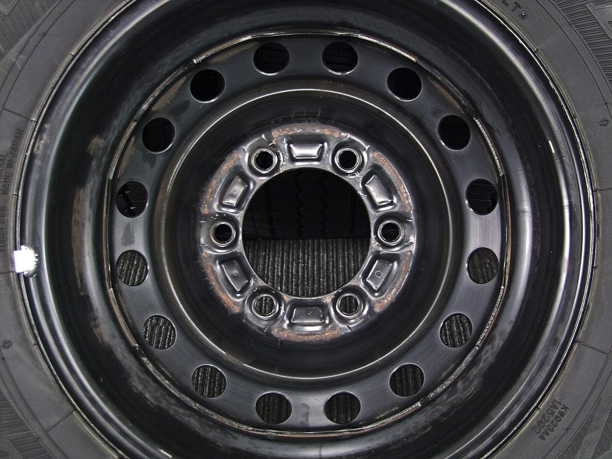 TOYOTA ハイエース 純正 ブラックスチール DUNLOP WINTER MAXX SV01 195/80R15 107/105L LT 4本SET