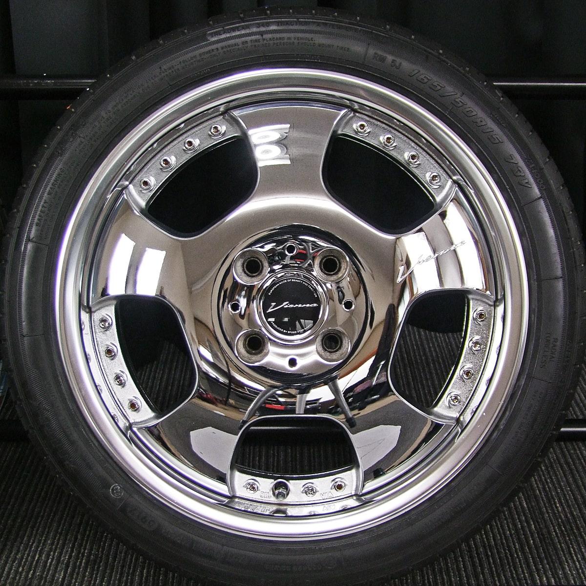 SSR Vienna DISH EV クロム ZEETEX ZT1000 165/50R15 4本SET