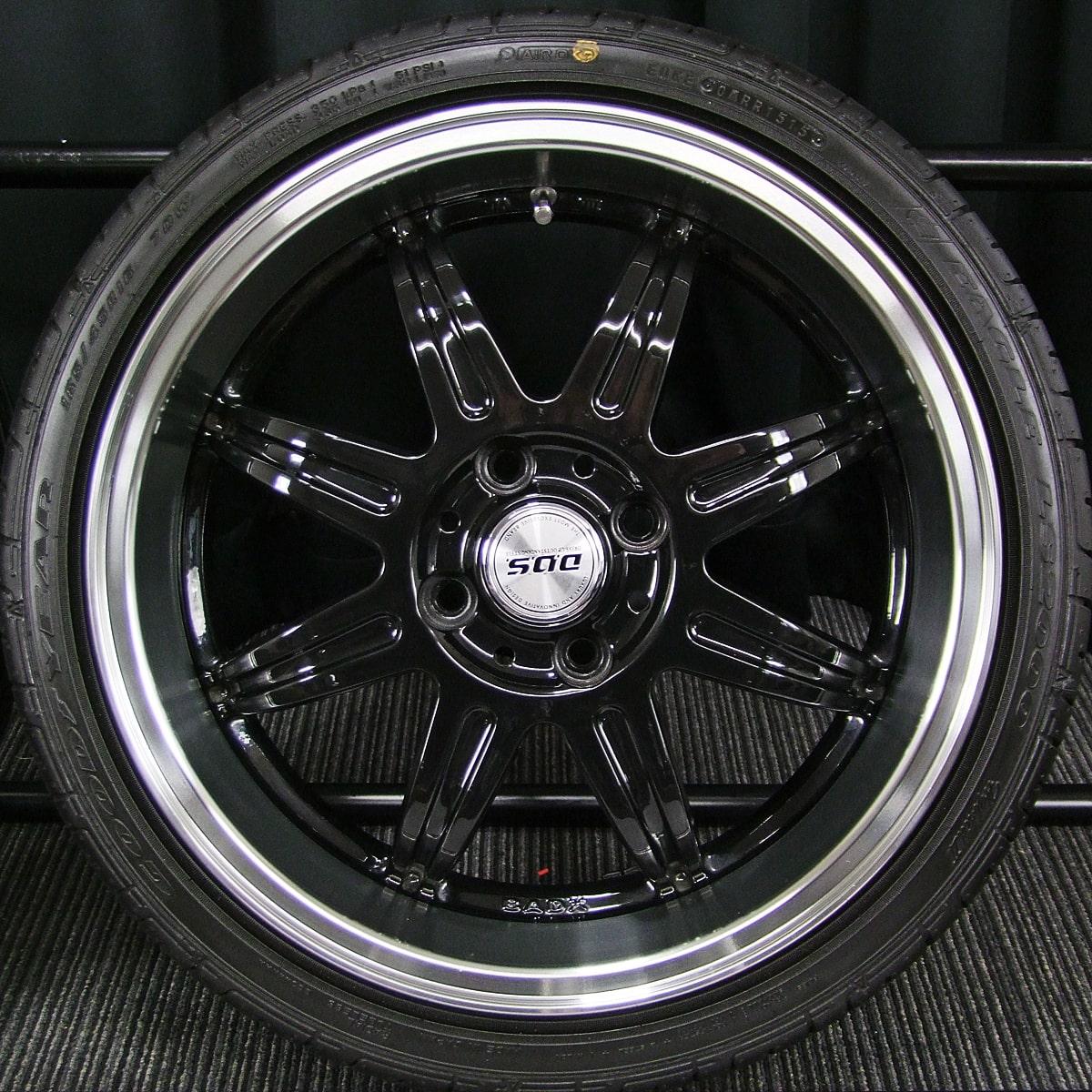BADX D.O.S. DEEP RIVAGE ブラック GOODYEAR EAGLE LS2000 Hybrid2 165/45R16 4本SET