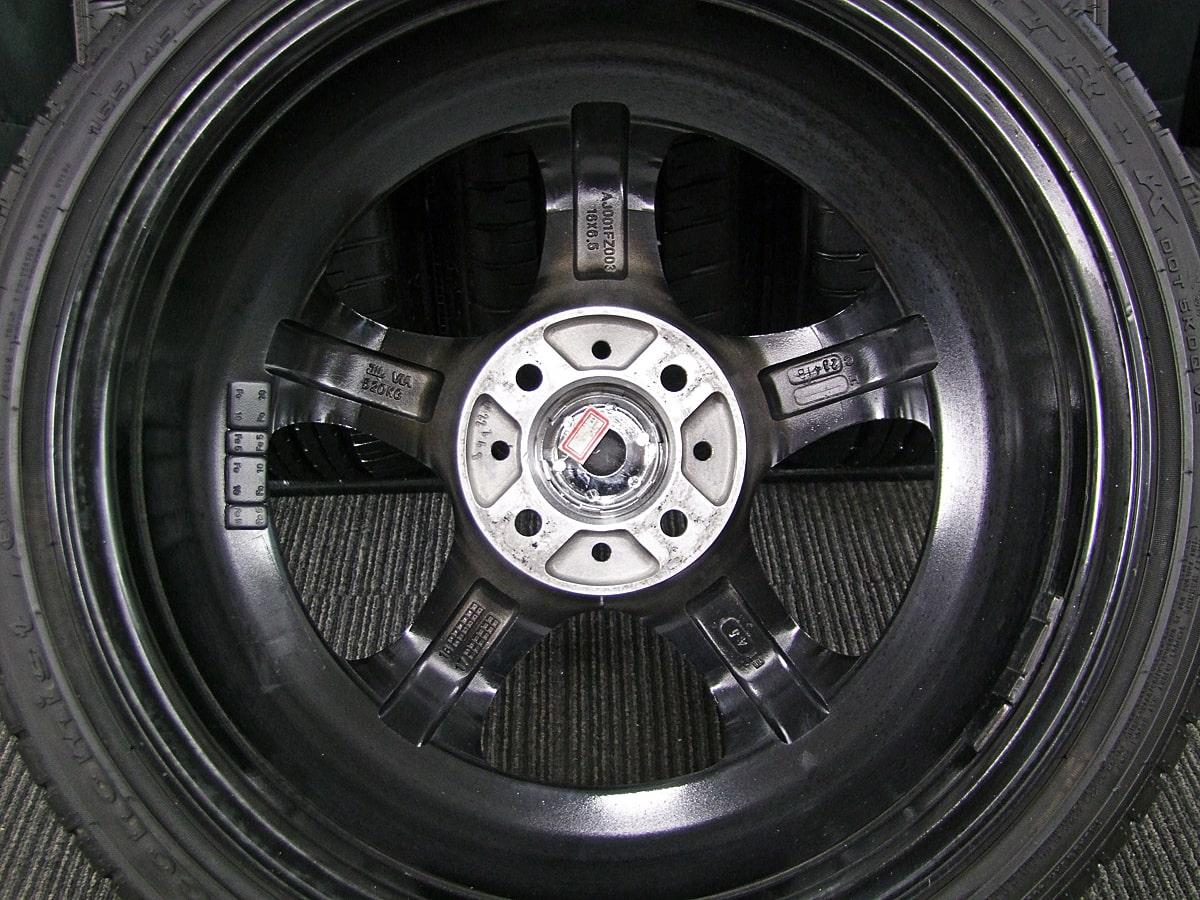 REDLINE crafts STEALTH RACING PROGRESS K36 ブラック ATR SPORT Economist ATR-K 165/45R16 4本SET