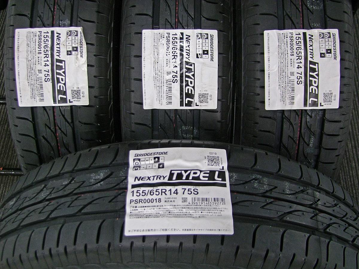 DAIHATSU タント 純正 シルバー BRIDGESTONE NEXTRY TYPE-L 155/65R14 4本SET