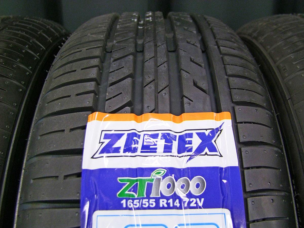 WEDS NIRVANA NV ガンメタ ZEETEX ZT1000 165/55R14 4本SET