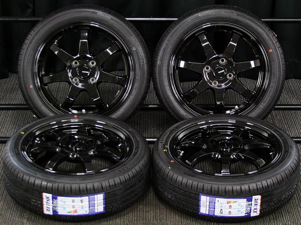 HOT STUFF G.speed G-03 ブラックメタリック ZEETEX ZT1000 165/55R15 4本SET