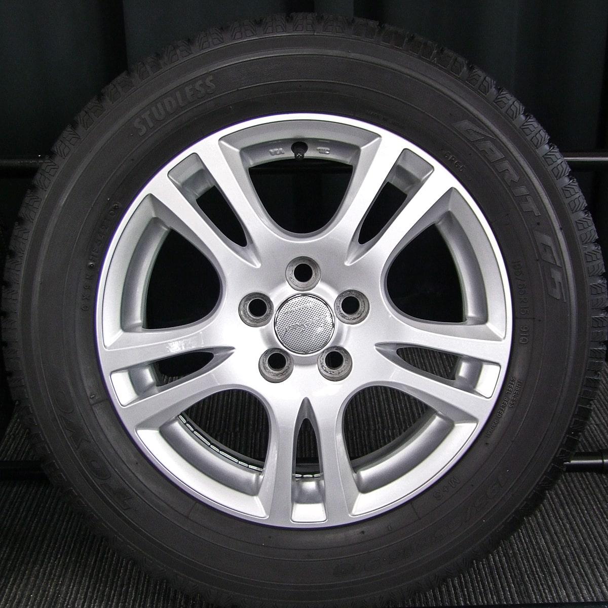 MANARAY SPORT EUROSPEED CX シルバー TOYO GARIT G5 195/65R15 4本SET