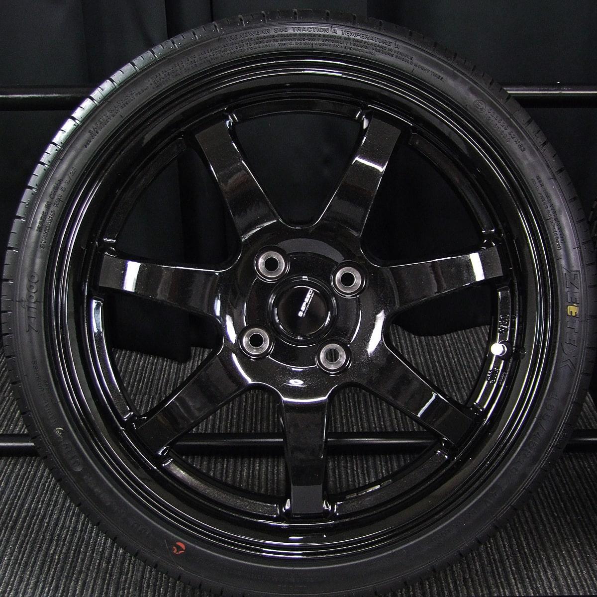 HOT STUFF G.speed G-03 ブラックメタリック ZEETEX ZT1000 165/45R16 4本SET