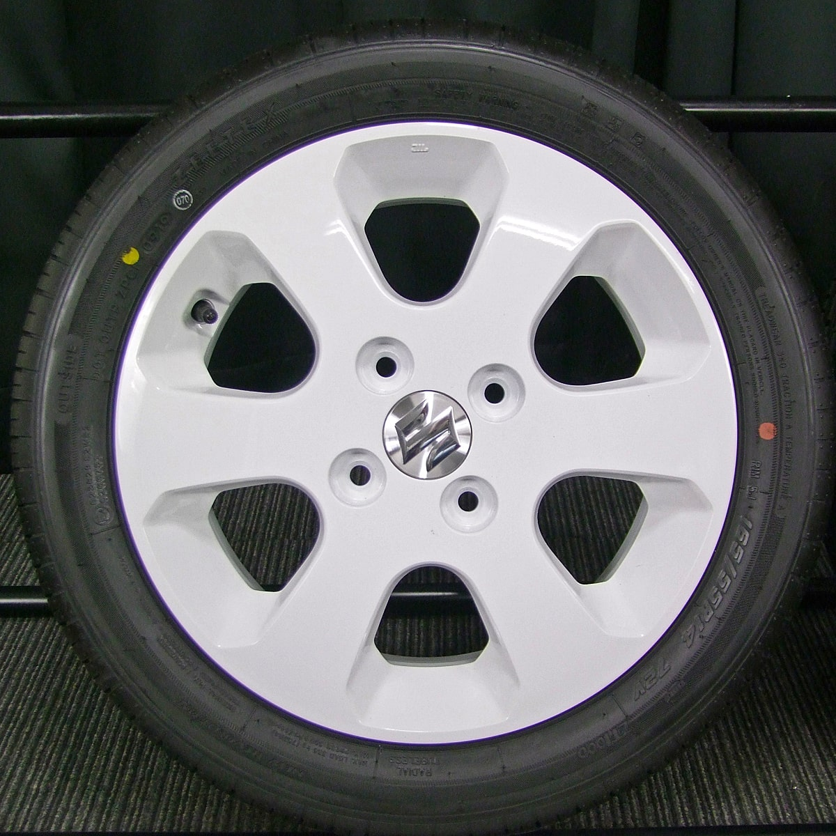 SUZUKI ワゴンR 純正 ホワイト ZEETEX ZT1000 165/55R14 4本SET