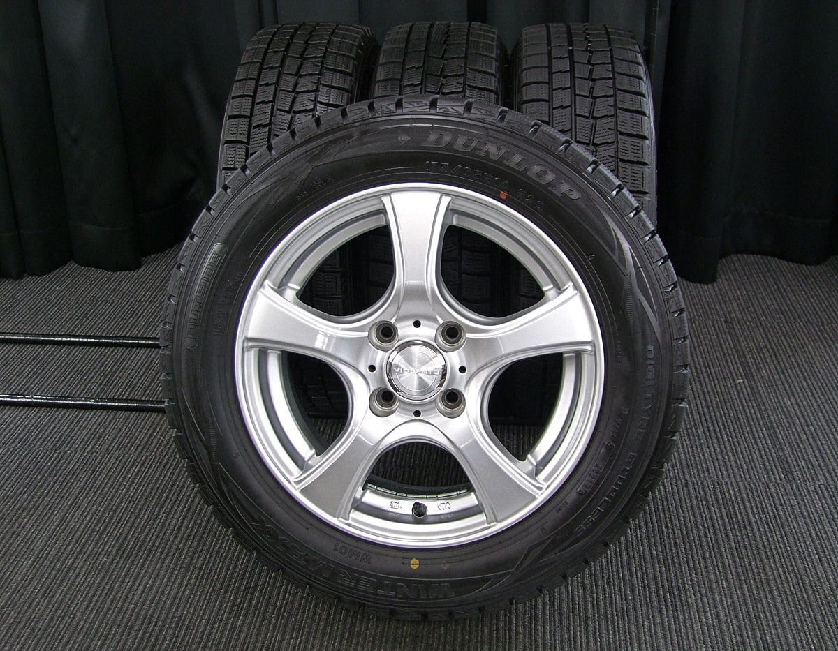 DUNLOP VIOLENTO IS シルバー DUNLOP WINTER MAXX WM01 175/65R14 4本SET