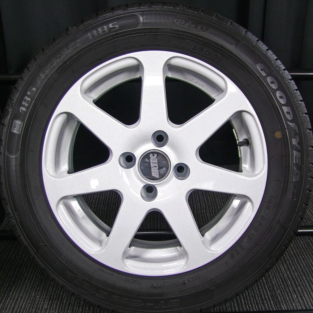 ARTEC Type-MX ホワイト GOODYEAR GT-EcoStage 185/65R15 4本SET