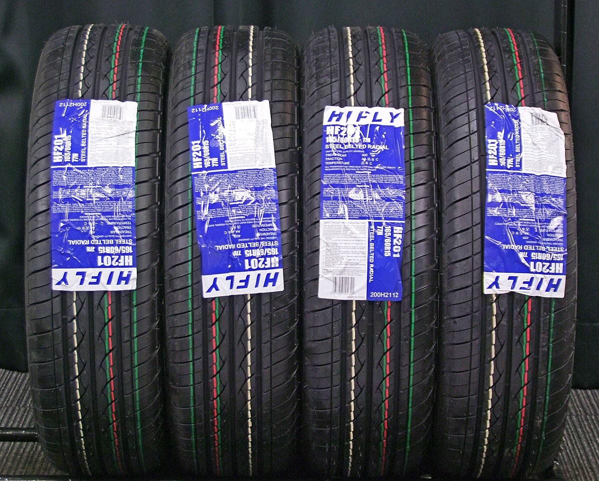 SUZUKI シボレークルーズ 純正 ホワイト HIFLY HF201 165/60R15 4本SET
