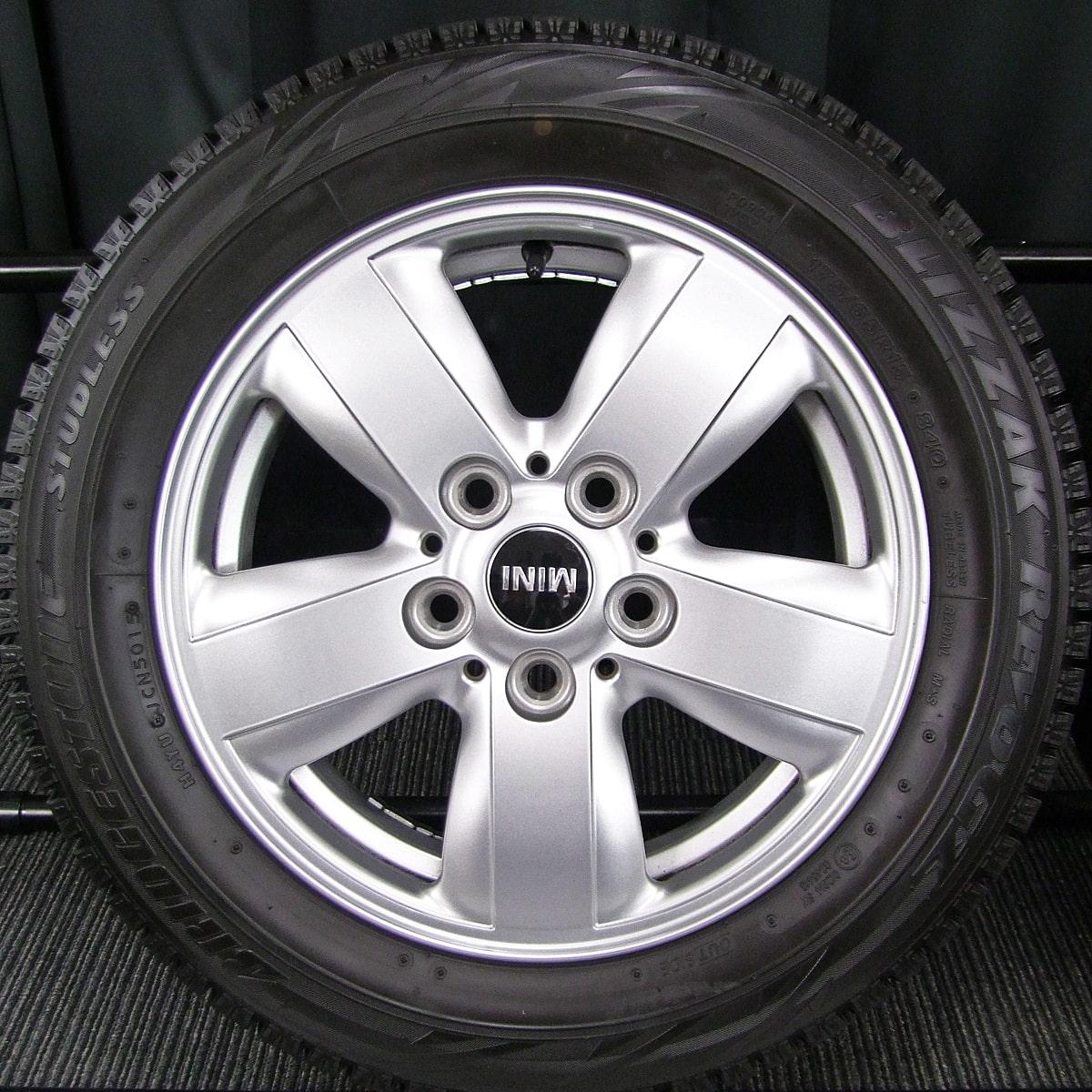 BMW MINI 純正 シルバー BRIDGESTONE BLIZZAK REVO-GZ 175/65R15 4本SET