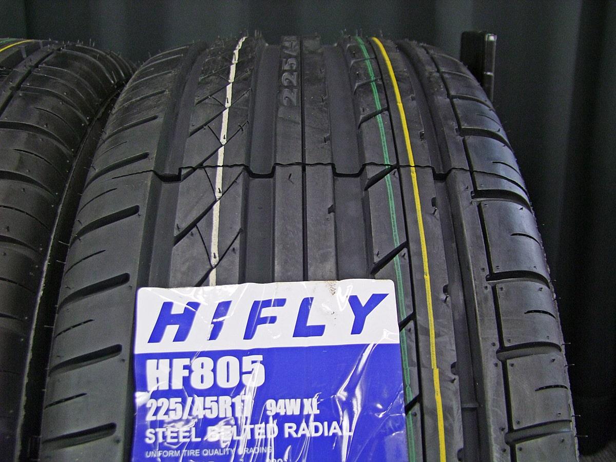 MERCEDES-BENZ CLK W209 純正 シルバー HIFLY HF805 225/45R17 245/40R17 4本SET