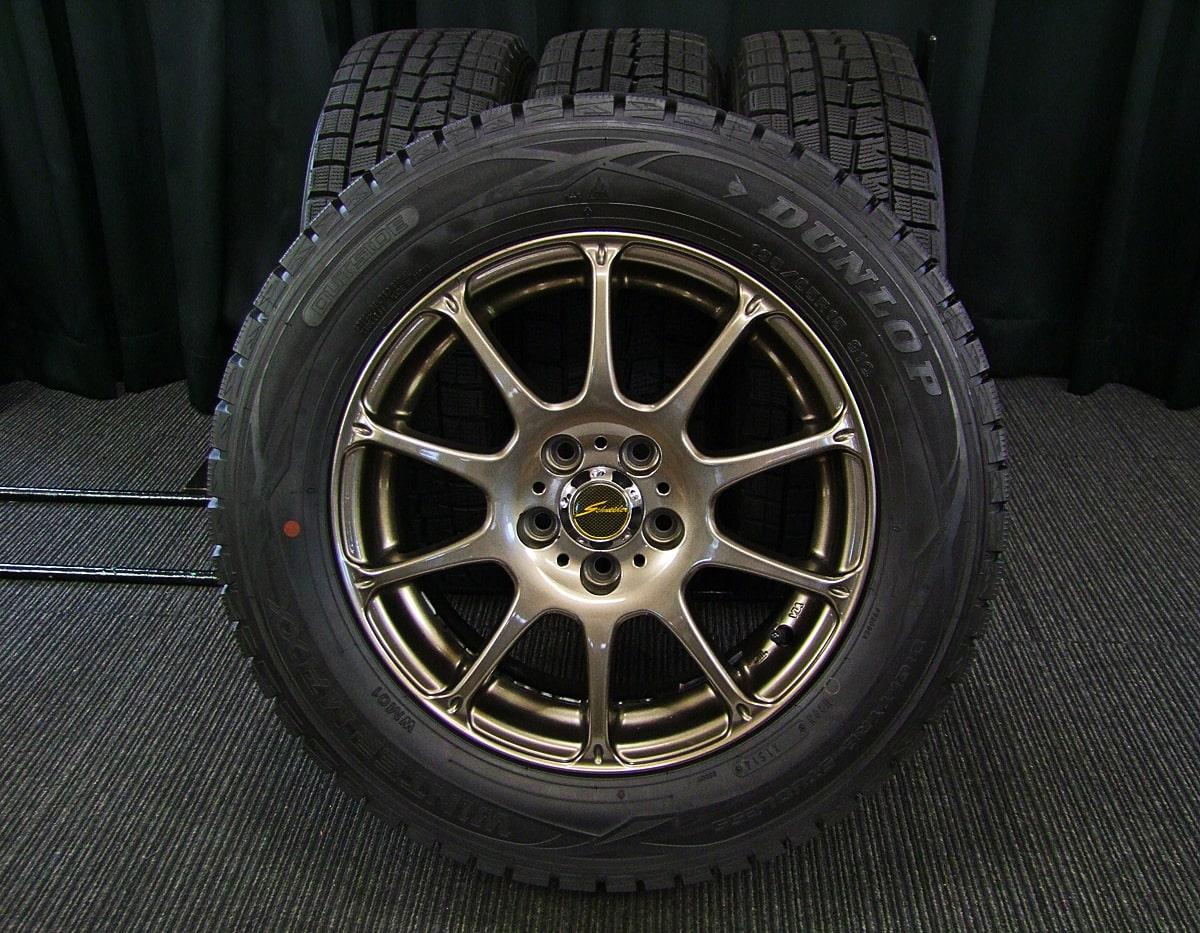 A-TECH SCHNEIDER BREAST ブロンズ DUNLOP WINTER MAXX WM01 195/65R15 4本SET