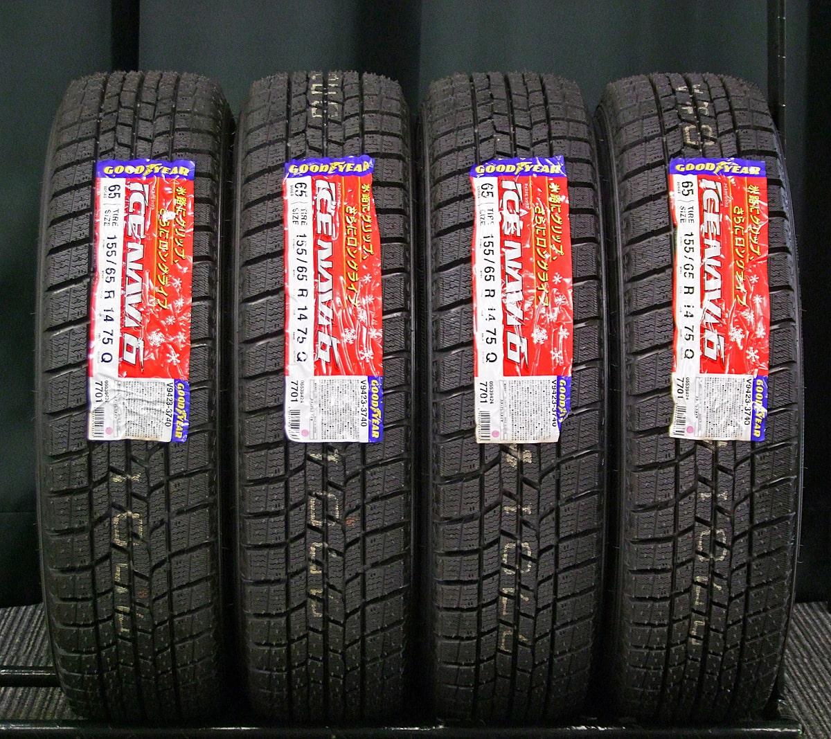 HONDA N-ONE 純正 ブラックスチール GOODYEAR ICENAVI6 155/65R14 4本SET