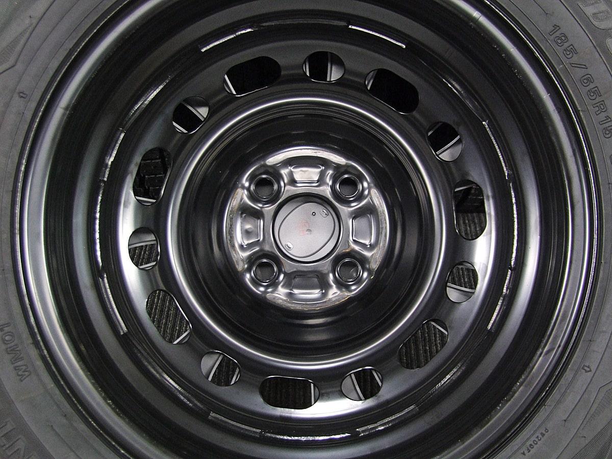 MAZDA デミオ 純正 ブラックスチール DUNLOP WINTER MAXX WM01 185/65R15 4本SET