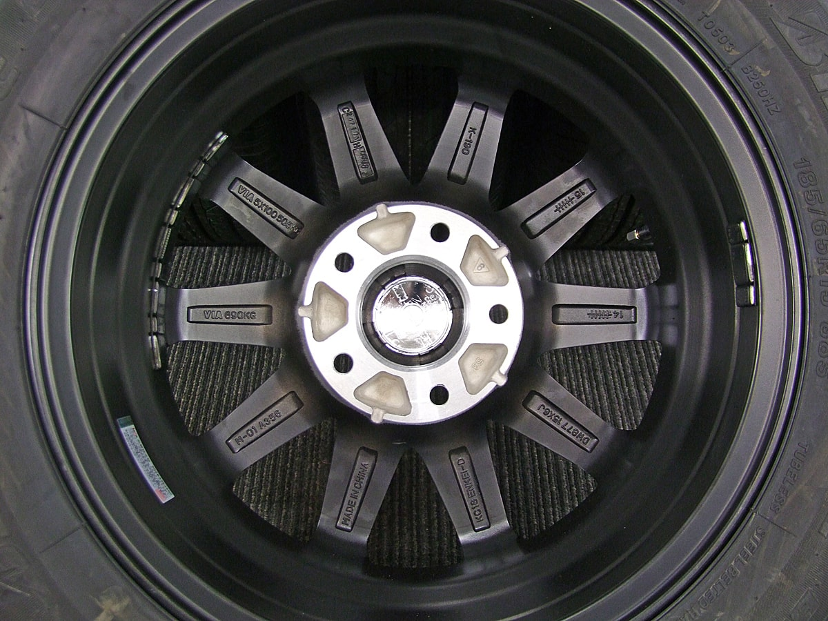 KYOHO SMACK SFIDA ブラック&ポリッシュ BRIDGESTONE B250 185/65R15 4本SET