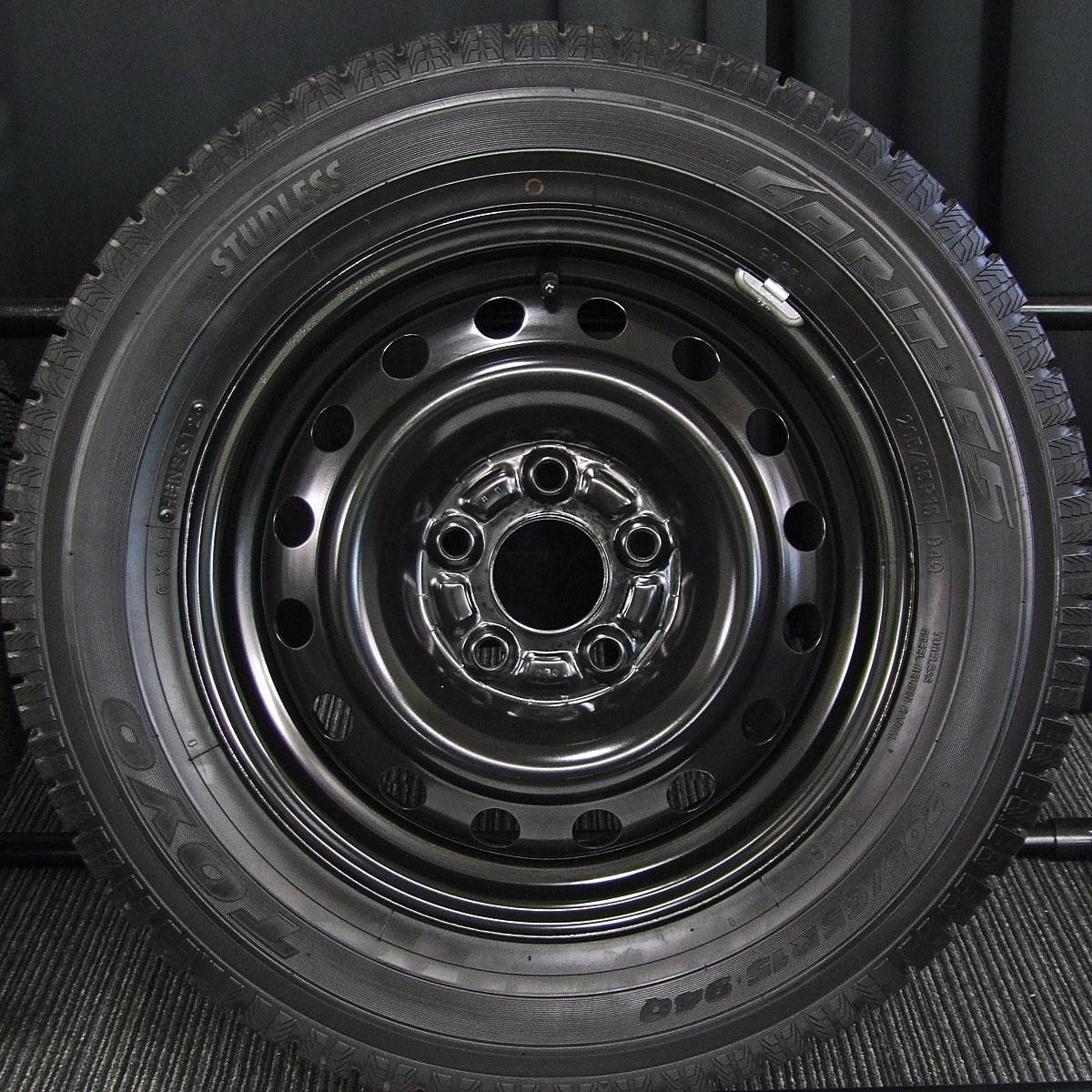 HONDA ステップワゴン 純正 ブラックスチール TOYO GARIT G5 205/65R15 4本SET