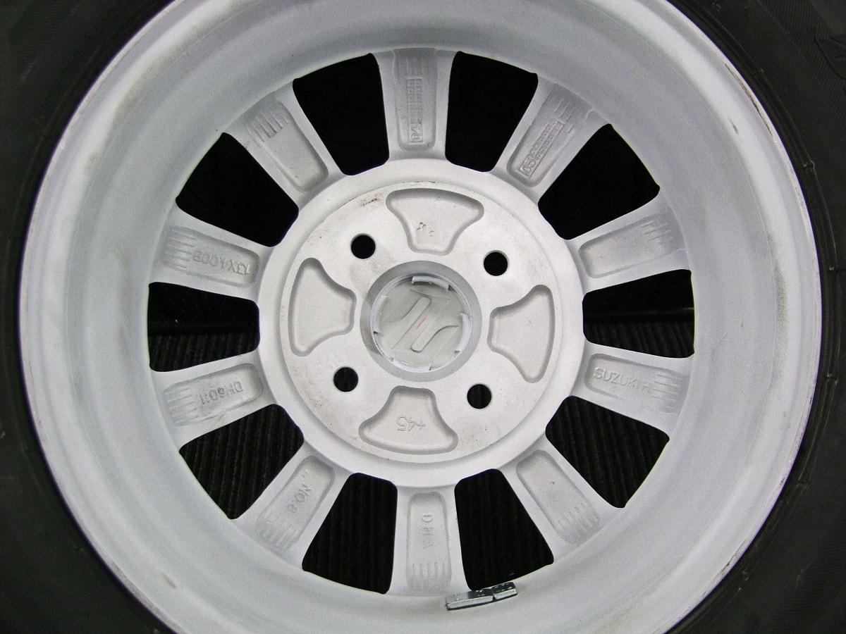 SUZUKI アルトラパン 純正 ホワイト BRIDGESTONE NEXTRY 155/65R13 4本SET