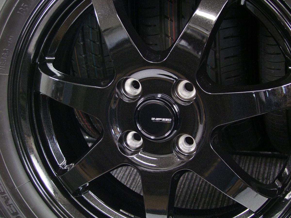 HOT STUFF G.speed G-03 ブラックメタリック TOYO NANOENERGY J63 185/60R15 4本SET