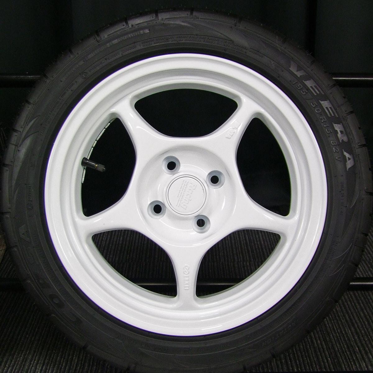 ENKEI Racing RP01 ホワイト ATR SPORT CORSA VEERA 195/50R15 4本SET