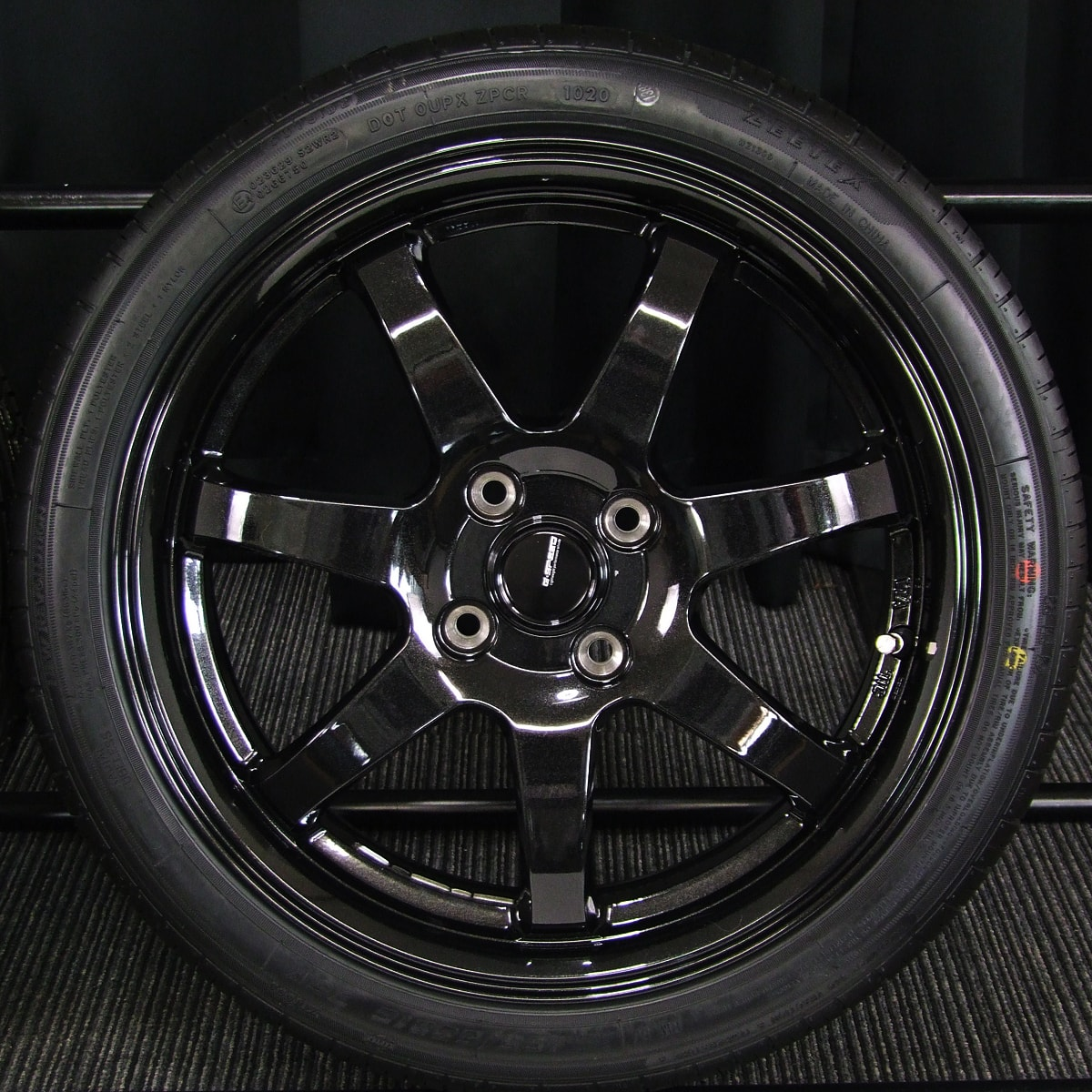 HOT STUFF G.speed G-03 ブラックメタリック ZEETEX ZT1000 165/50R16 4本SET