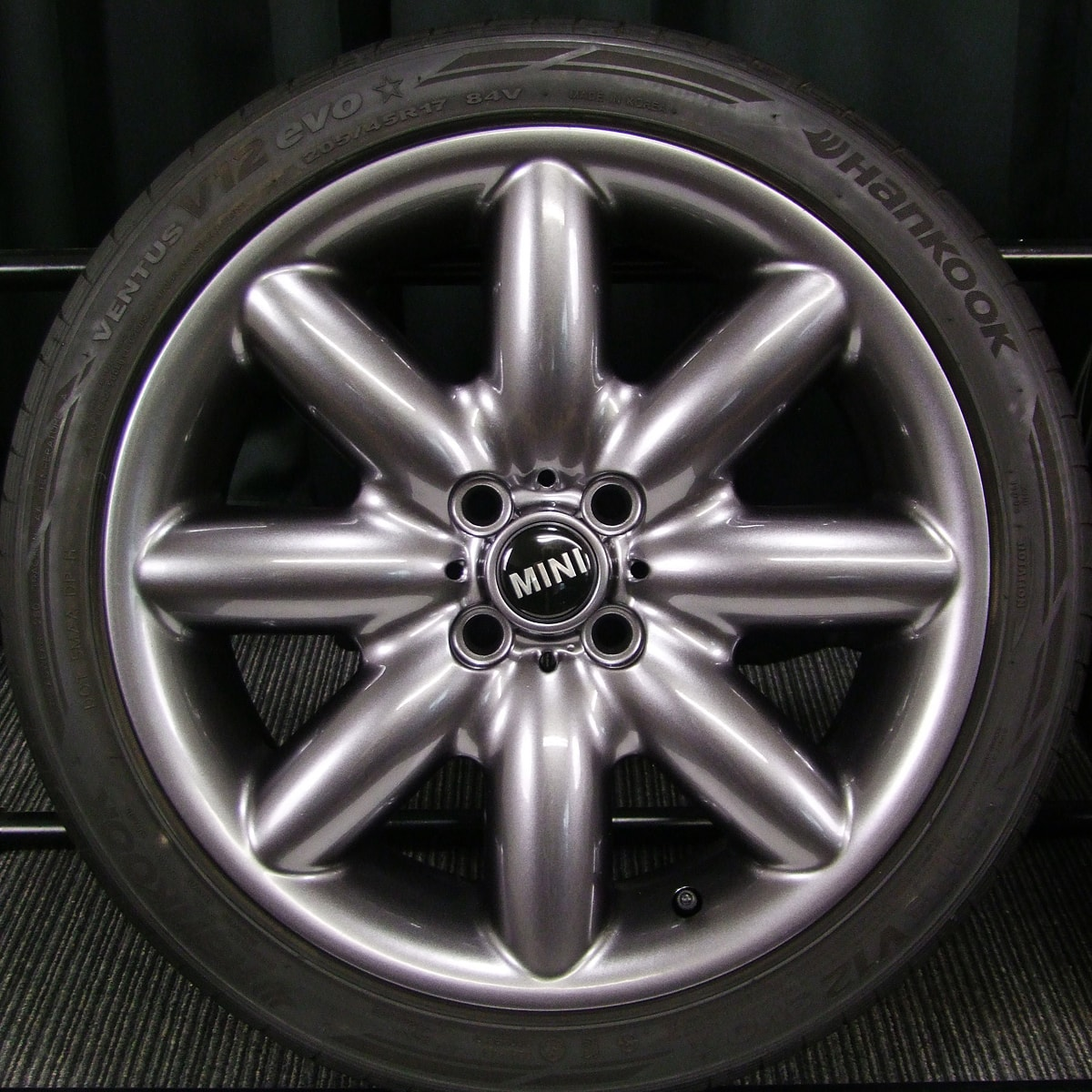 BMW MINI 純正 SスポークR85 ガンメタ HANKOOK VENTUS V12 evo 205/45R17 4本SET