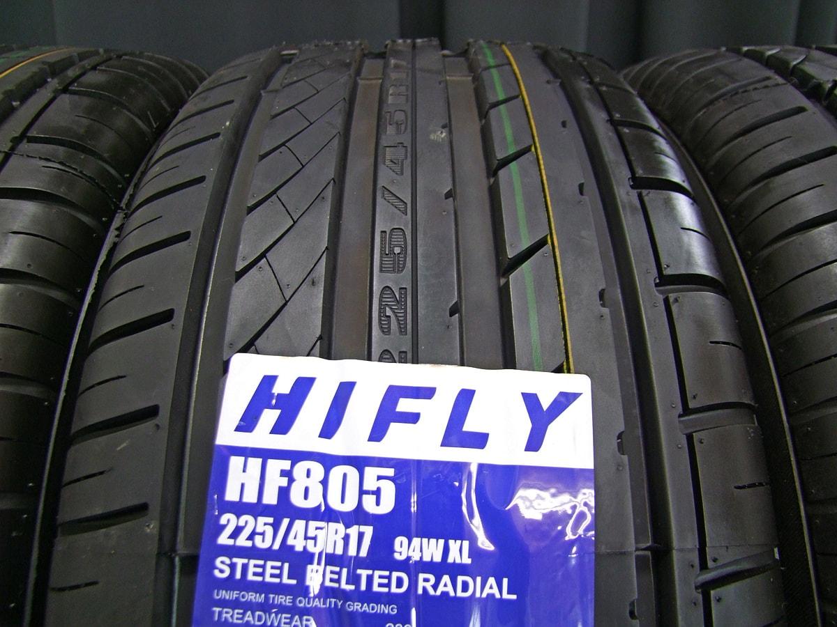 ATS TWIN シルバー&ポリッシュ HIFLY HF805 225/45R17 4本SET