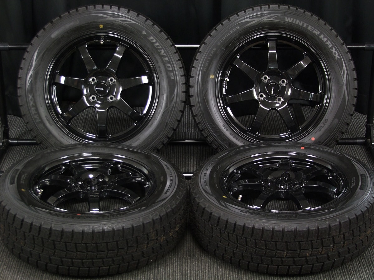 HOT STUFF G.speed G-03 ブラックメタリック DUNLOP WINTER MAXX WM01 195/65R16 4本SET