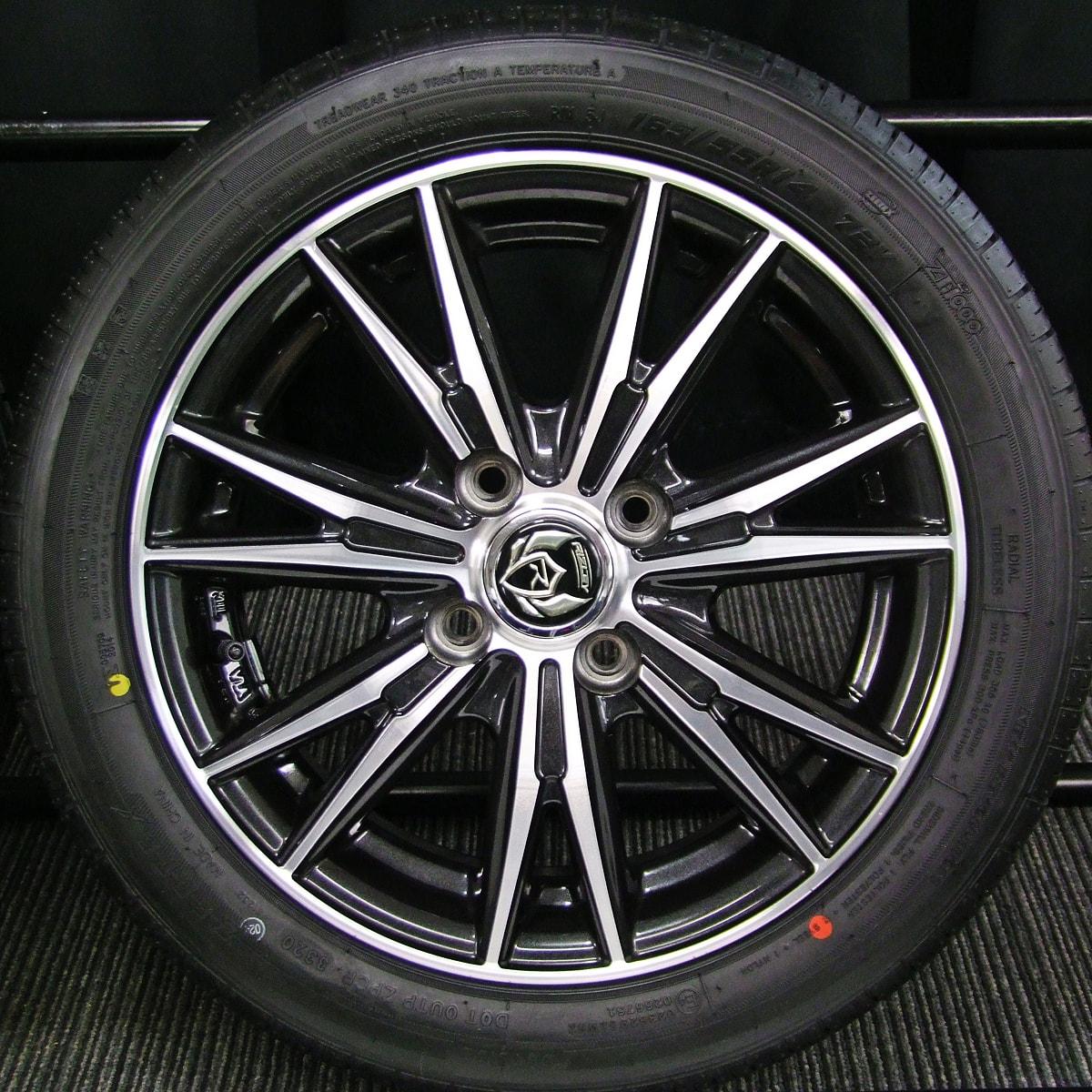 WEDS RIZLEY DK ブラック&ポリッシュ ZEETEX ZT1000 165/55R14 4本SET