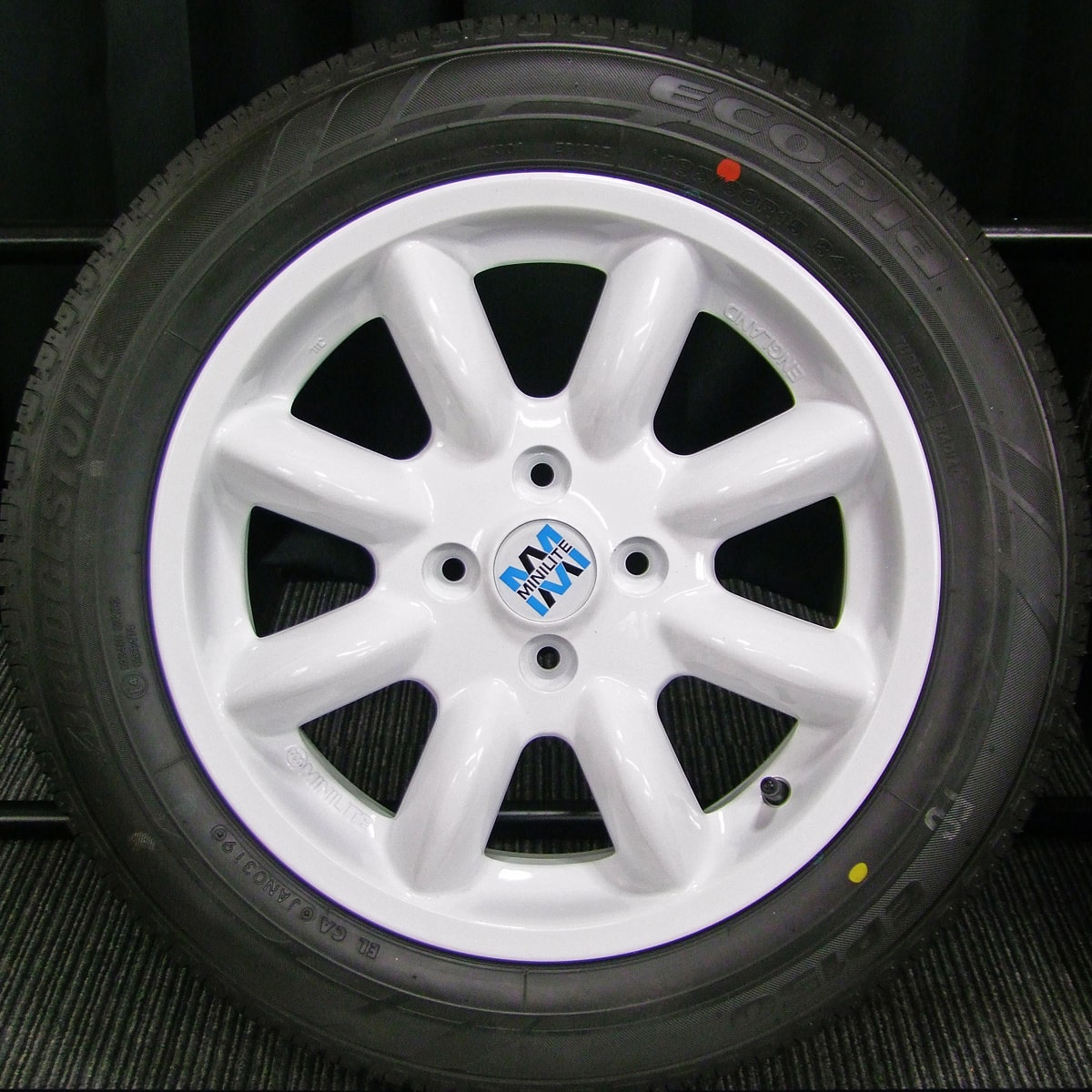 BMW MINI 純正 MINILITE ホワイト BRIDGESTONE ECOPIA EP150 185/60R15 4本SET